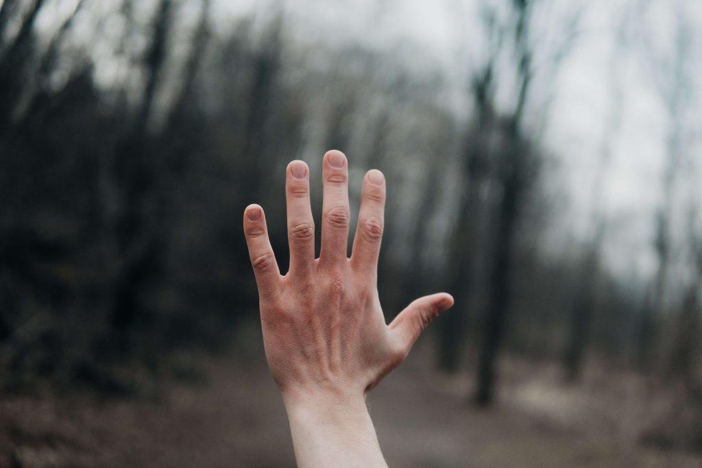 Rozpostarta dłoń