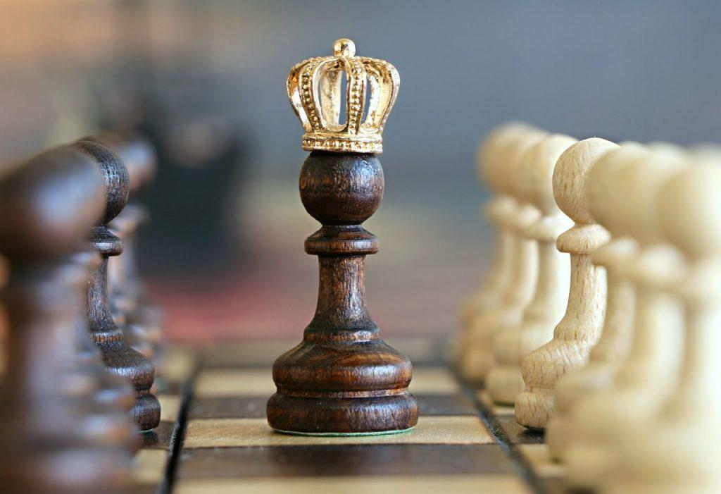 Pionki na szachownicy