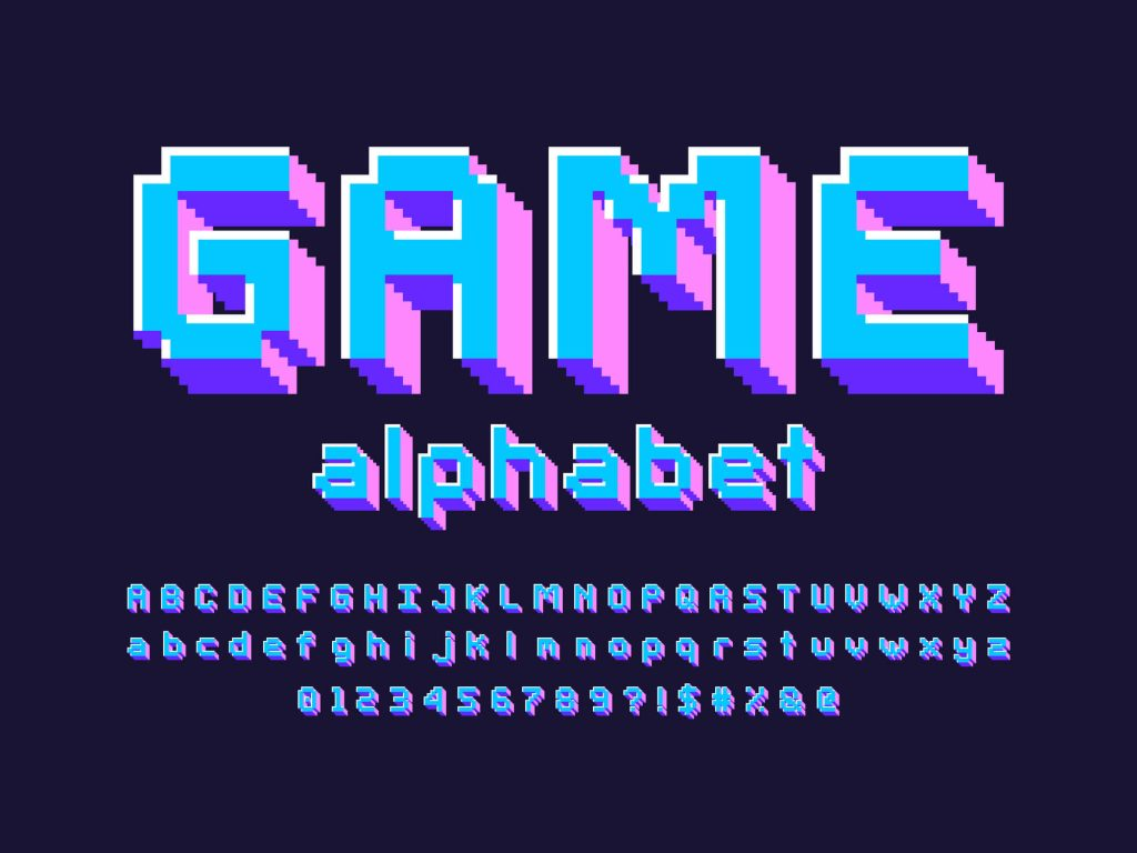 Alfabet fontu game